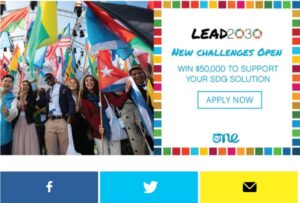 Read more about the article Lead2030 Challenge for SDG 2